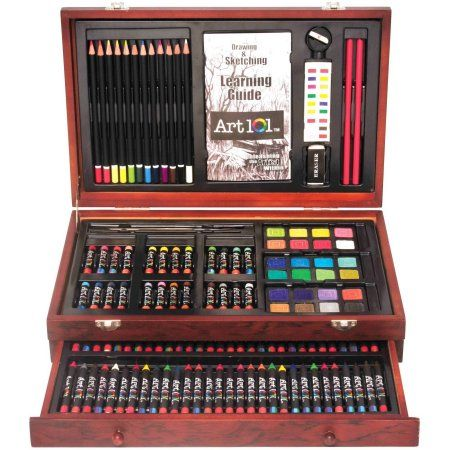 art 101 wooden case 132 piece art set walmart com what tom likes