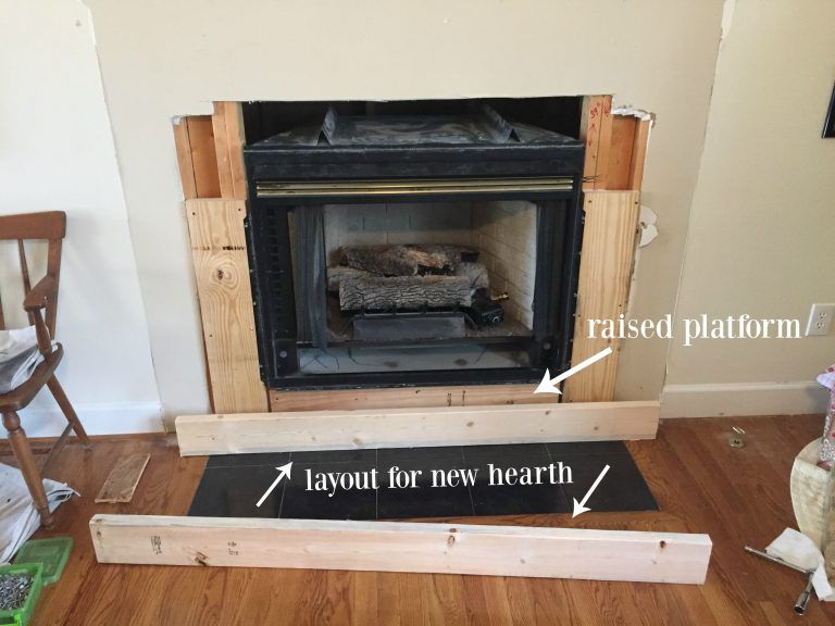 diy fireplace makeover fireplace diy fireplace fireplace hearth rh pinterest com how to build a brick fireplace hearth how to build a fireplace hearth extension
