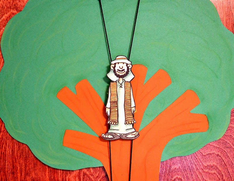 Zacchaeus climbing model Instructions and video shows how it works