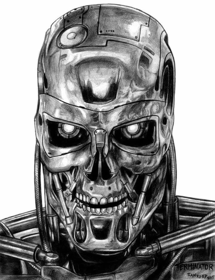 Pin De Asena Herrera En Terminator Dibujos Realistas Arte De Comic Popular Dibujos Impresionantes