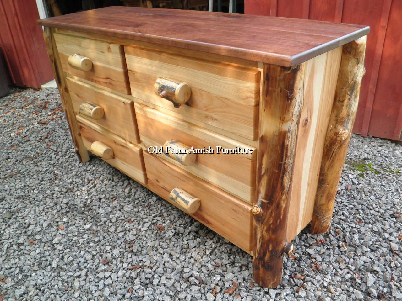 Aspen Log Dresser Old Farm Amish Furniture - Dayton, PA (814) 257-8911 Visit our Facebook Page :)