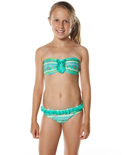 e7bf5fd8d0 ... Buy. SURFSTITCH - KIDS - GIRLS CLOTHING - SWIMWEAR - 2 CHILLIES KIDS  MINTY BANDEAU BIKINI - PRINT