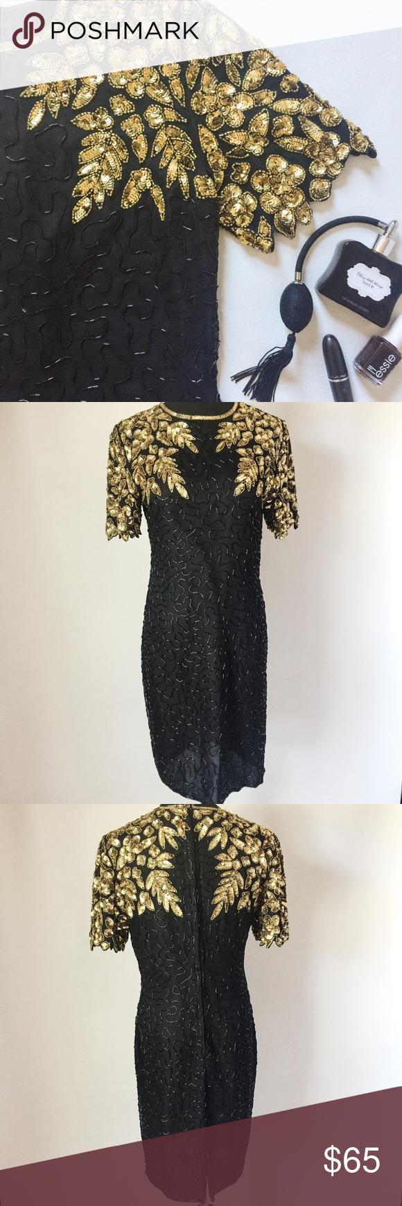 Vintage Stenay Sequin Gown
