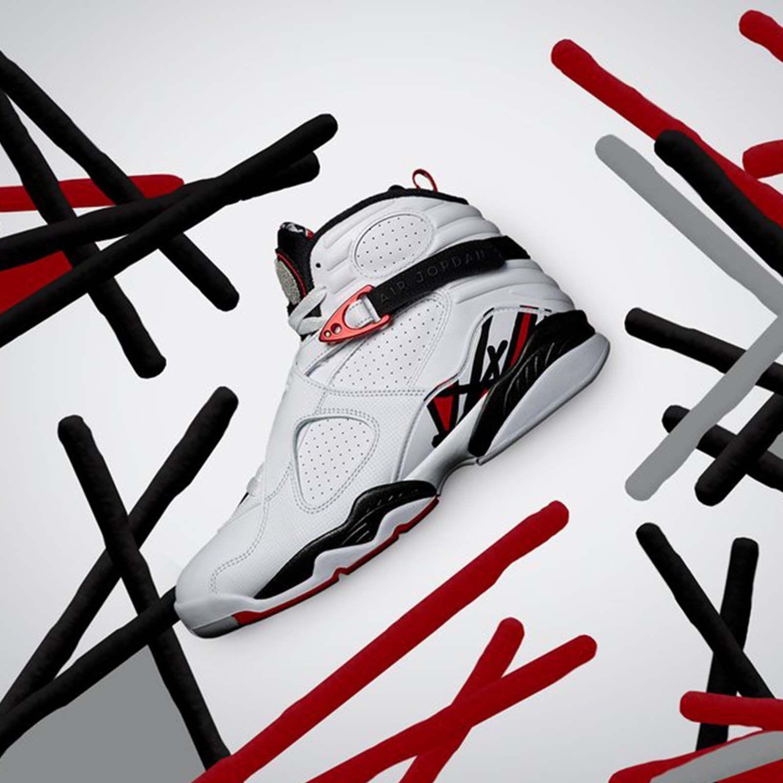 online store dd69f 4f3b7 Nike Air Jordan 8 Retro VIII Alternate Collection White Red Men AJ8  305381-104