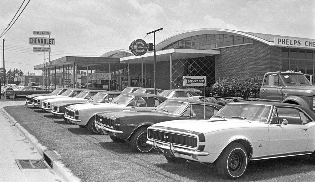1967 Phelps Chevrolet Dealership Greenville North Carolina