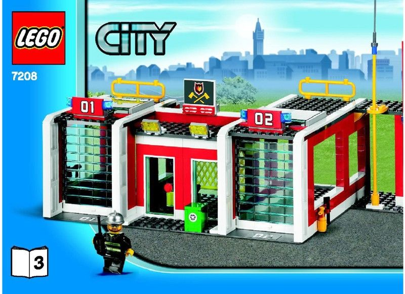 City Fire Station Lego 7208 Lego Fire Veh Pinterest Lego