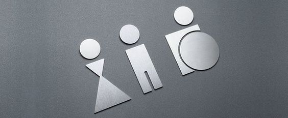 Graphic Design Men Women Bathroom Icons Toilet Seat Up And Down