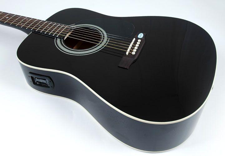 Cool Black Acoustic Guitar For Sale Ikuzo Guitars Black Acoustic Guitar Acoustic Guitar For Sale Guitars For Sale