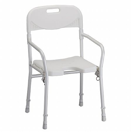Nova Foldable Shower Chair With Back 1 Ea Ideal For Travel Folds And Unfolds In Seconds Horseshoe D Portable Shower Chair Shower Chair Folding Shower Chair