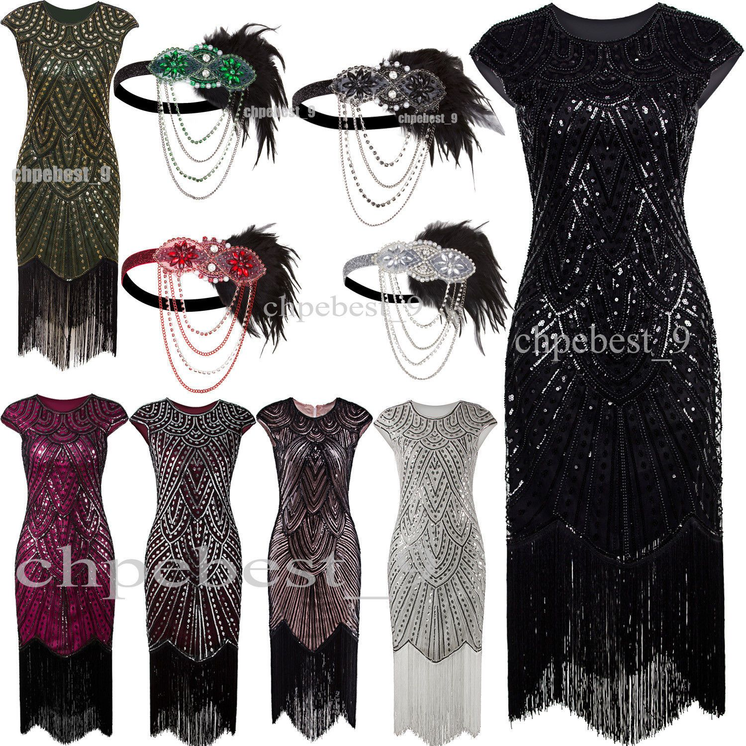 Awesome great s flapper dress gatsby wedding party long formal