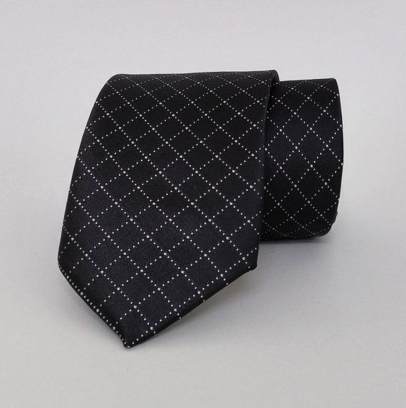 Black Necktie, Black Men's Tie, Black Cravat, Black Tie - SL506 #handmadeatamazon #nazodesign