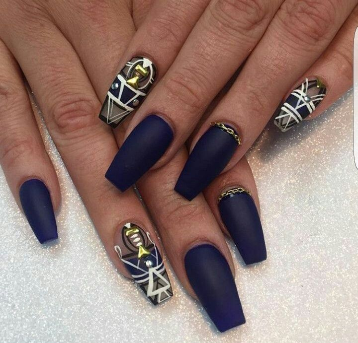 Pin by Tatted beauty on Unique nail styles. Nail Colors&Designs ...