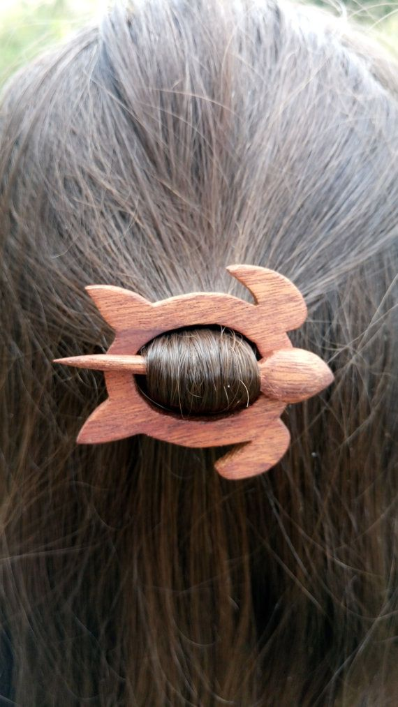 Wooden turtle Wooden hair pins Clips for the hair Little turtle Hairpin Brooch on clothing Belts