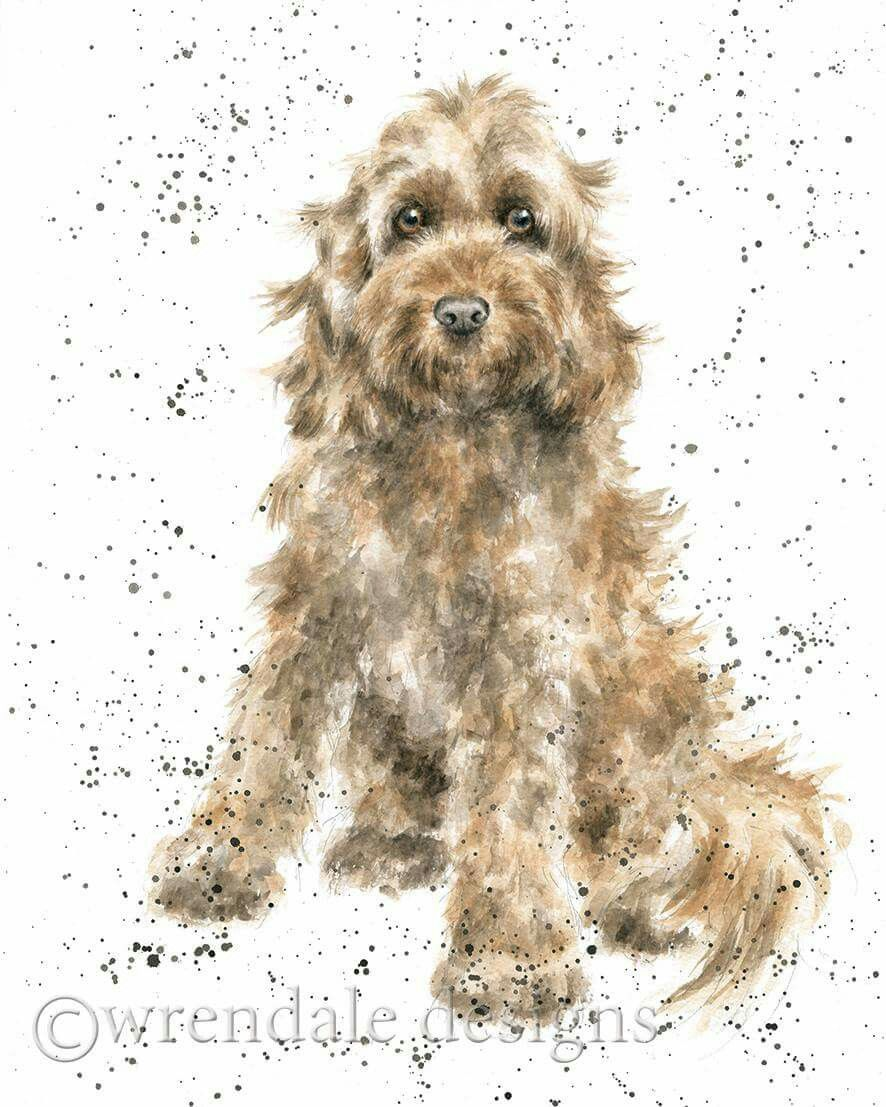Watercolour Design Cockapoo Breed of Dog Blank Card for any Special Occasion
