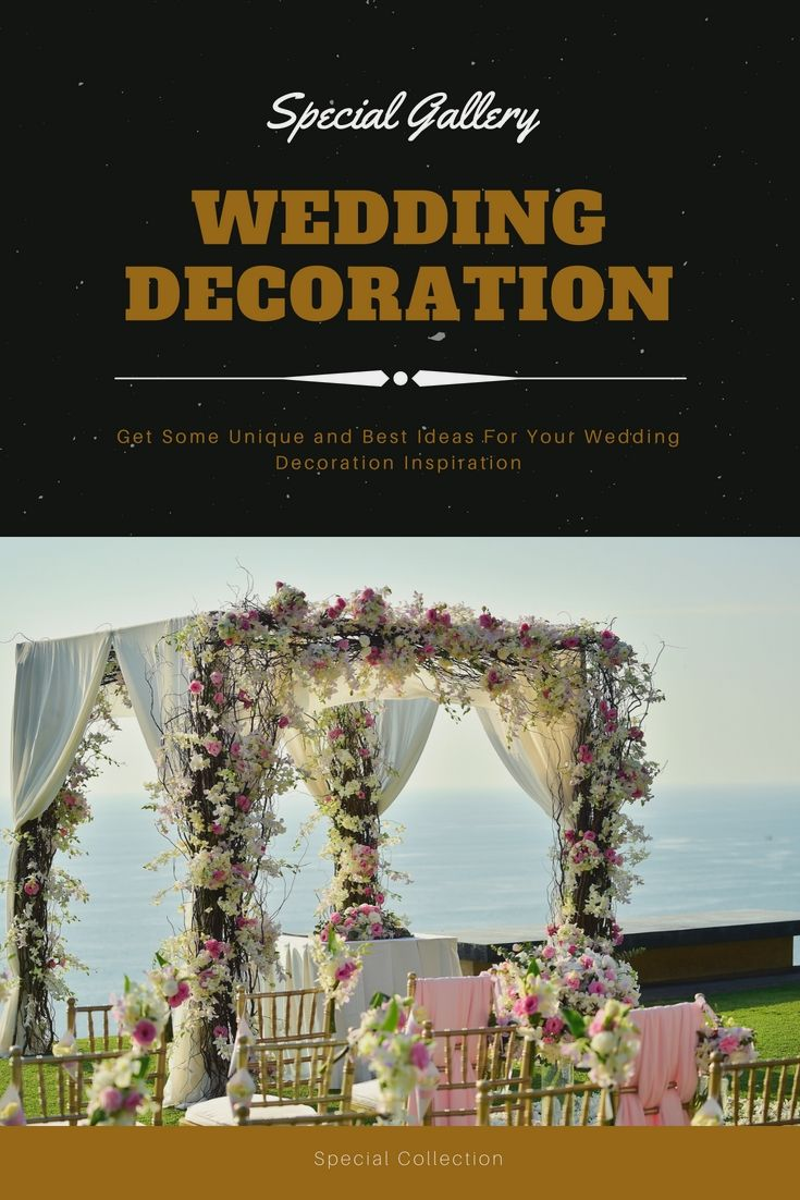 Wedding decoration designs  DressUp Your Entire Wedding Event Decorations By Having One Of