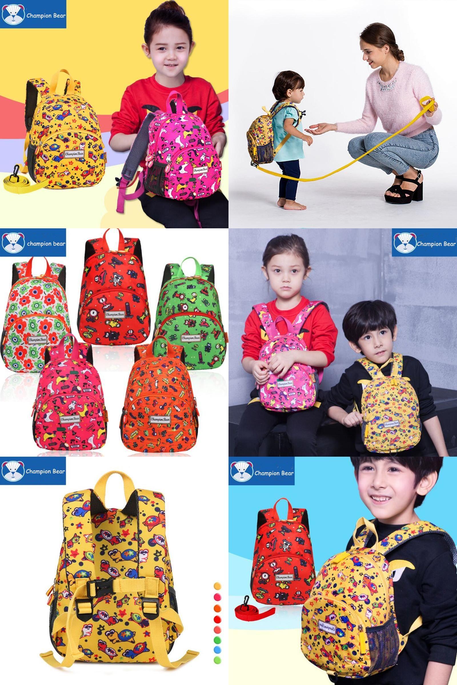Visit to Buy  Aged 1-3-5 Toddler Harness Kindergarten Backpack Kids ... 8042dac739b01