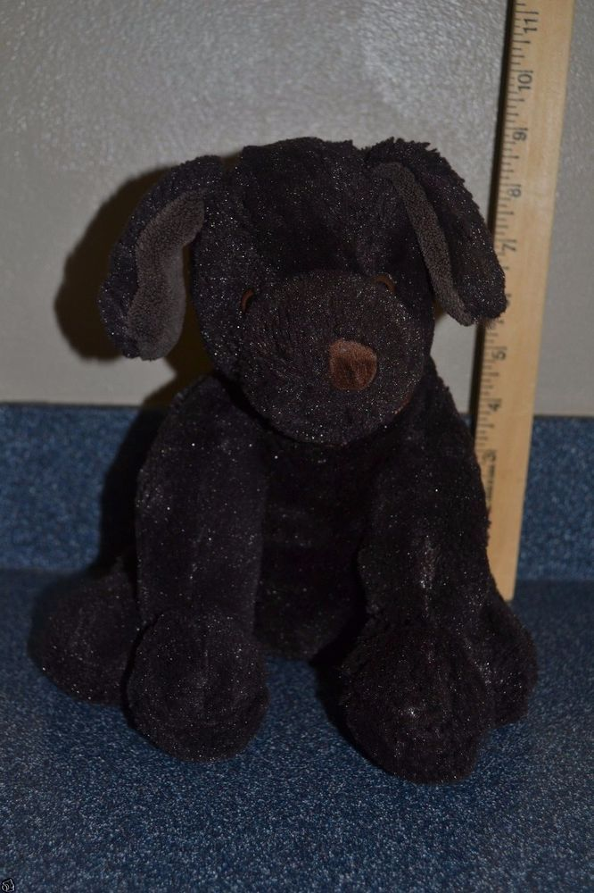 "Brookstone Nap Plush Puppy Dog Stuffed Chocolate Dark Brown 10"" #GL #Brookstone"