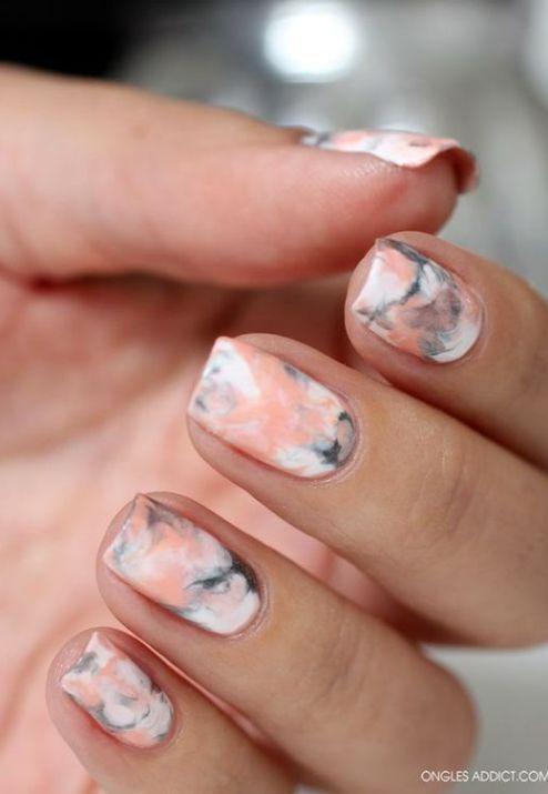 18 Chic Nail Designs for Short Nails - 18 Chic Nail Designs For Short Nails DIY MANICURES .. Pinterest