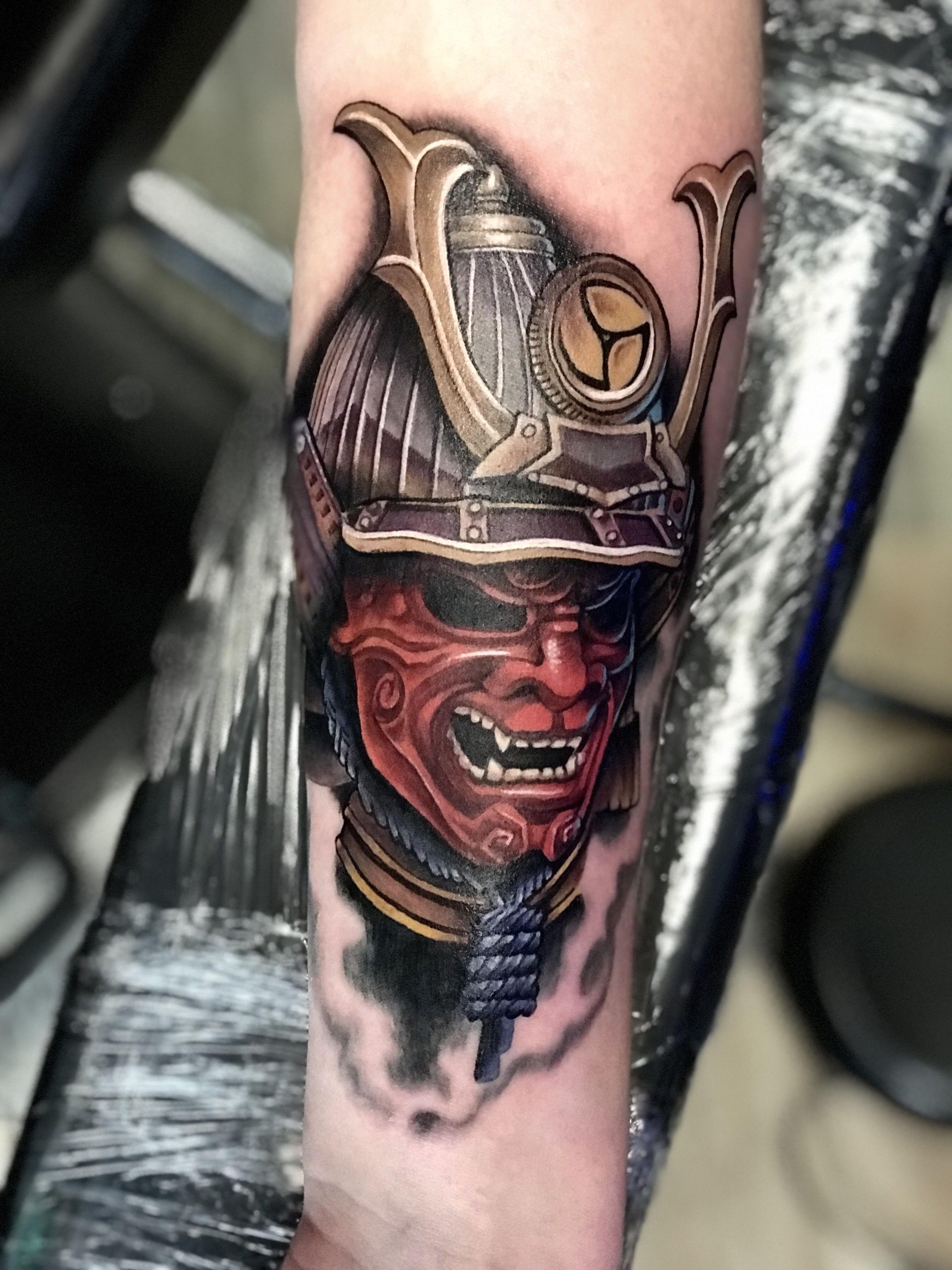 Samurai Tattoo By Krystof At Bluenote Tattoo In Las Vegas Tattoos Tattoo Artists Cool Tattoos