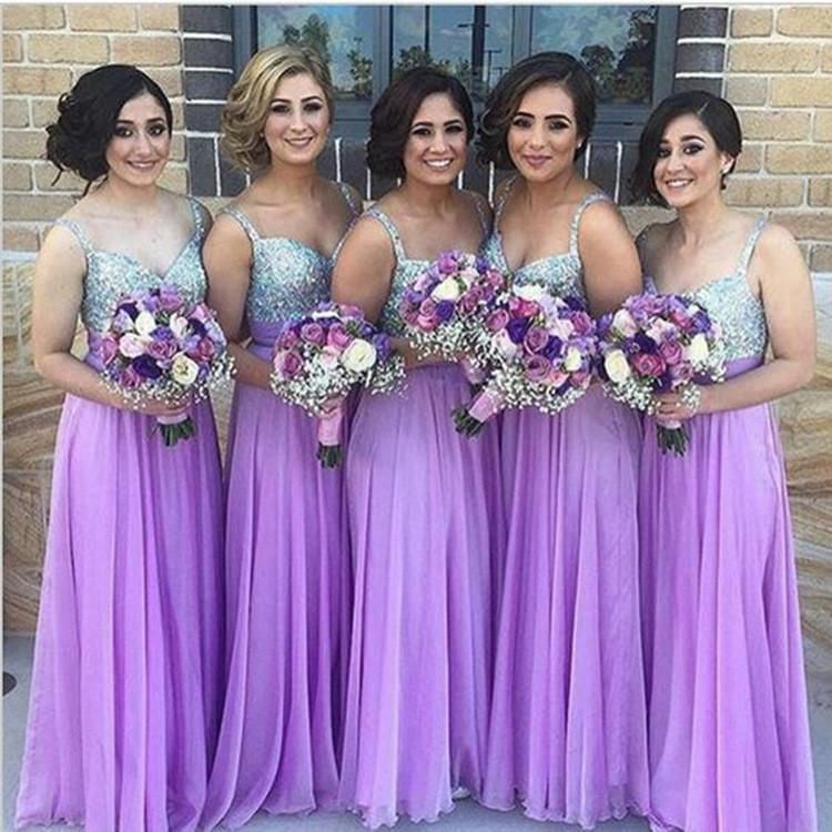 Purple Squined Bridesmaid Sisters Long Dress | Turquoise wedding ...