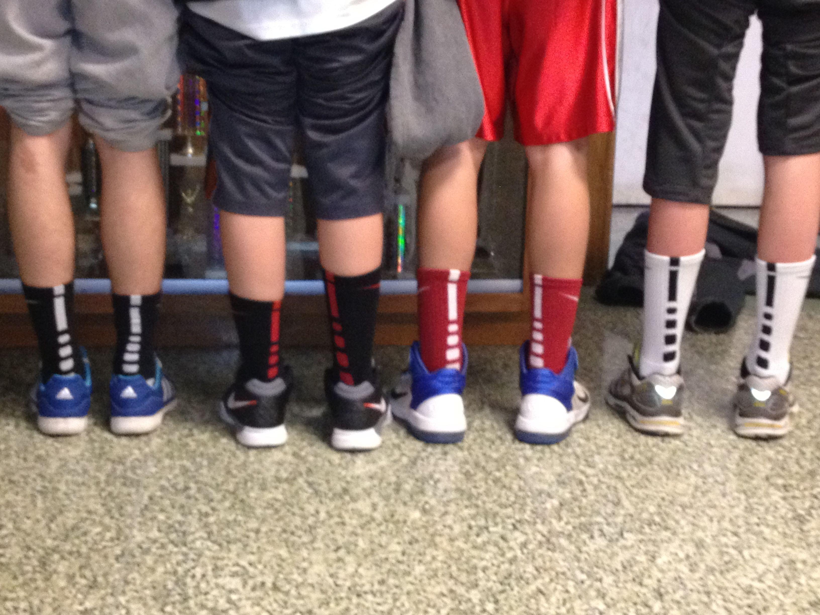kids nike elite socks