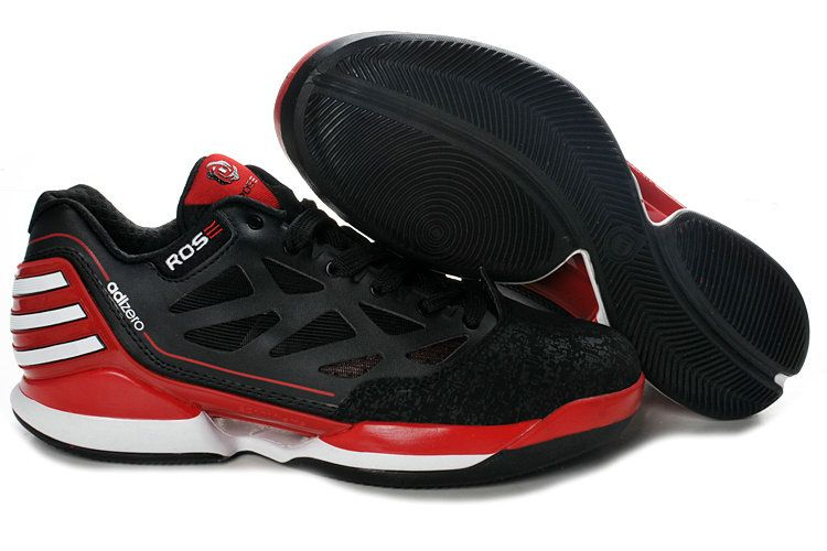 adidas basketball shoes 2012 adizero rose dominate low black red white g42837