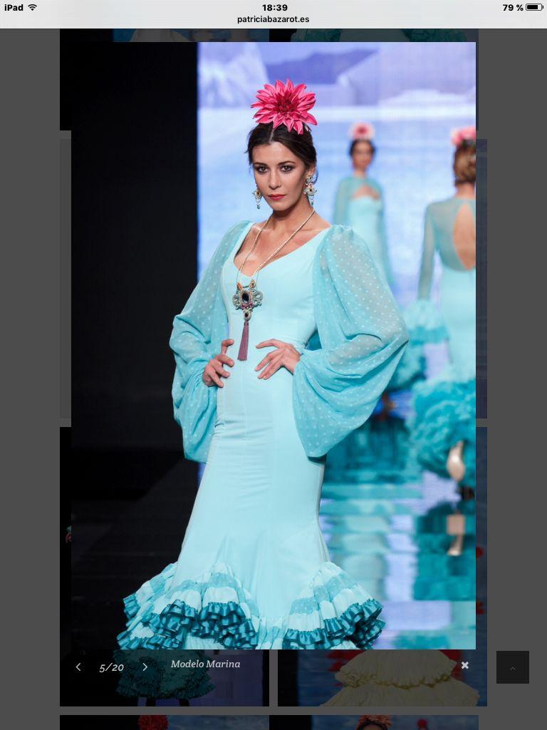 Moda flamenca manga abollonada