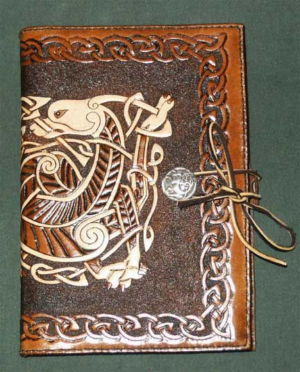 Twin Celtic Dragon Knotwork Diary-Journal