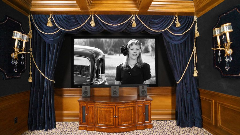 charming Marc Pridmore Designs Part - 11: Home Theater Room Curtains | Marc Pridmore Designs Custom Home Theater  Drapes, Roman Shades, Home .