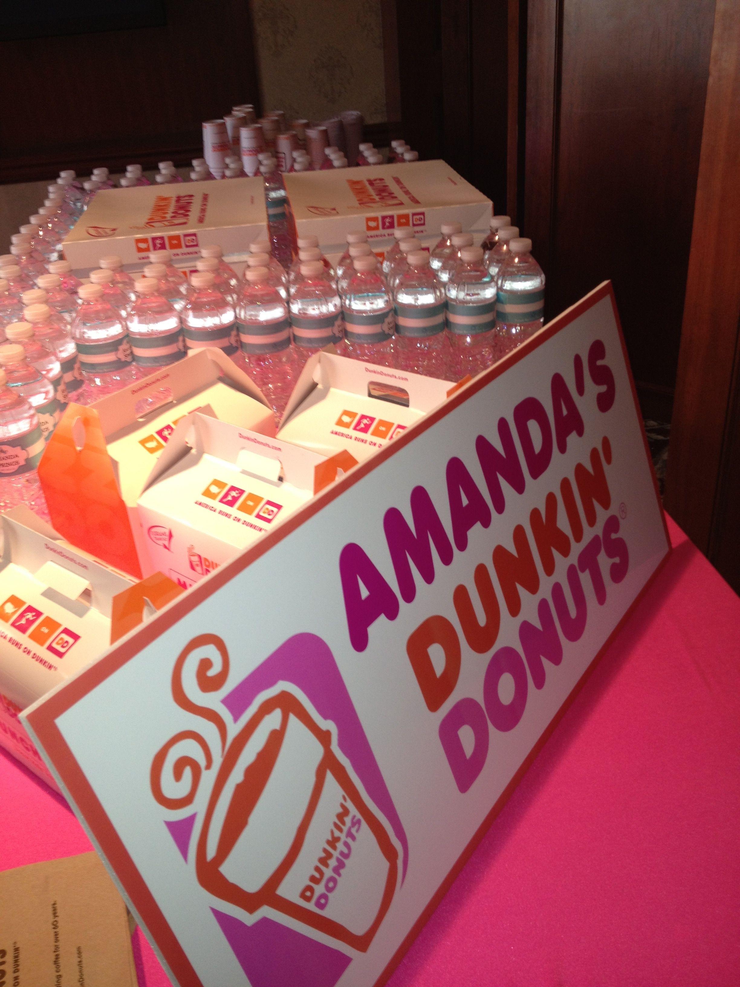Amandas bat mitzvah dunkin donuts stand donut birthday