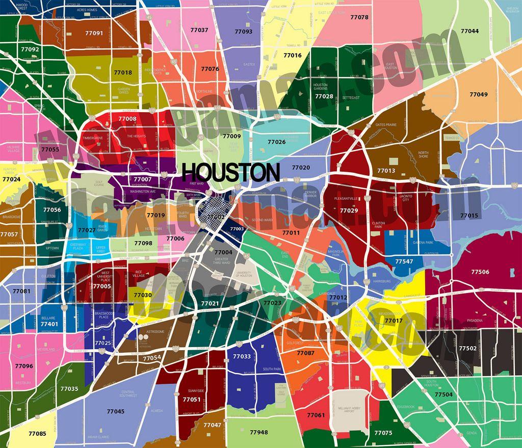 Zip Code Map Of Houston Tx Har Com Houston Zip Code Map Zip