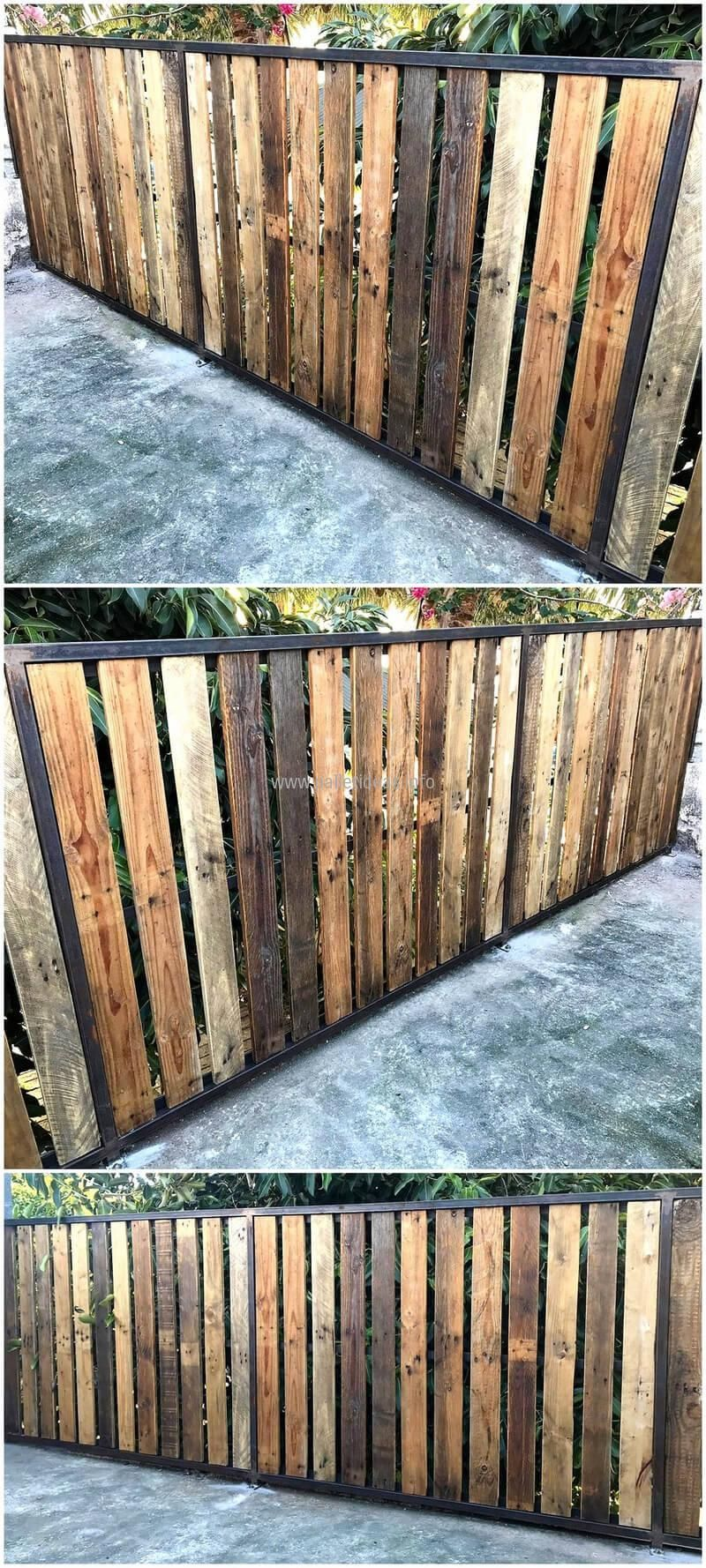 15 Pallet Fence Ideas To Improve Your Amazing Home Schutting