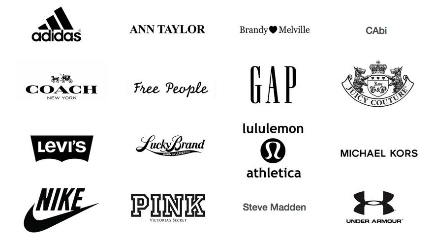 Brand Names For Clothes Ideas