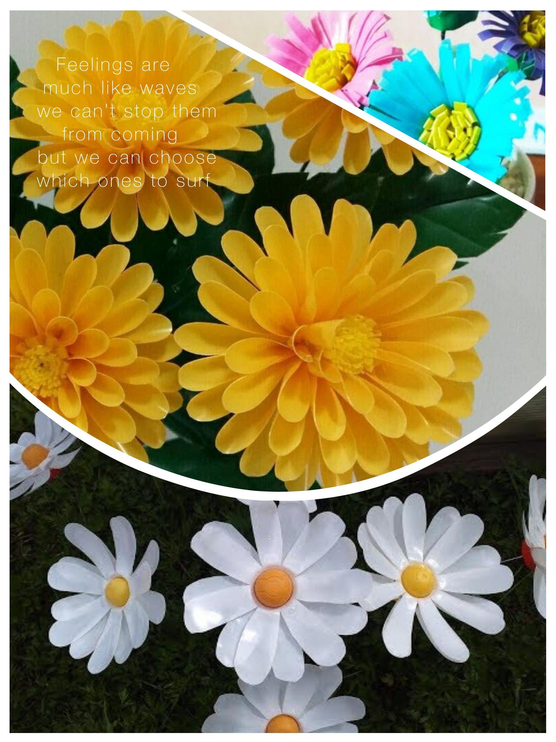 Bunga Dahlia Dibuat Dari Sedotan Lei Necklace