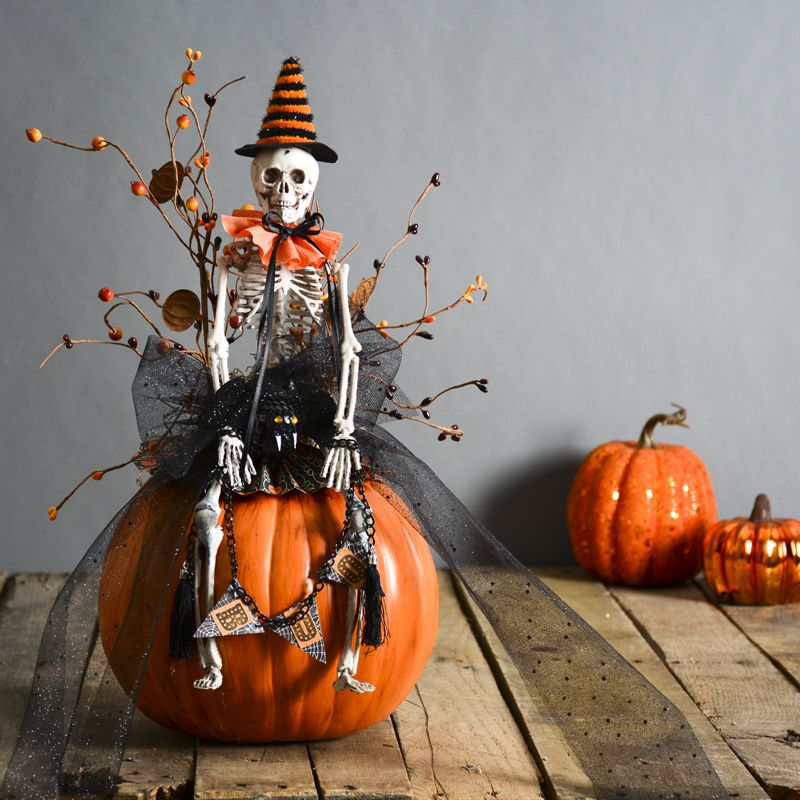 cute halloween decorations skeleton decor funkin uses fake pumpkin halloween decorating ideas - Cute Halloween Decorating Ideas