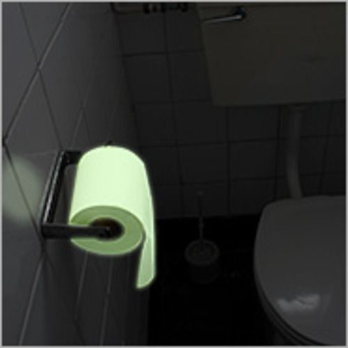 Glow in the Dark Toilet Paper?!  Haha that would have been nice in East Hall so I wouldn't have had to turn a light on for the middle of the night bathroom breaks.