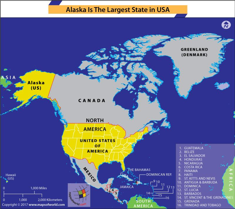 Alaska is the Largest State of USA | States in usa, U.s. ...