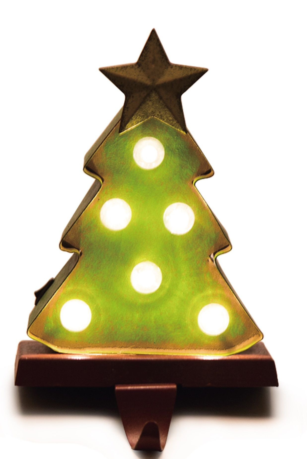 Battery Operated Marquee Led Lighted Christmas Tree Stocking Holder Led Christmas Lights Christmas Stocking Holders Led Tree