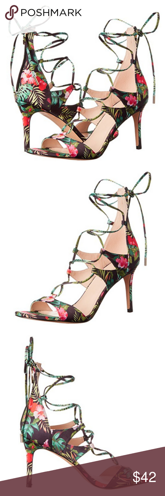 "MARC FISHER Dress Sandals Laceup "" MARC FISHER "" Fabric"