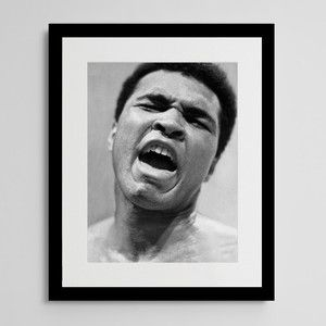 'I float like a butterfly & sting like a bee,' said Ali after knocking out Frazier.    Muhammad Ali 73 Framed Print, 83€, now featured on Fab.