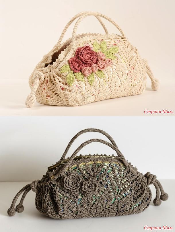 Schöne Handtasche von rund Servietten gemacht