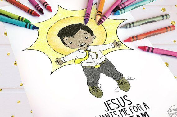 Jesus Wants Me For A Sunbeam Coloring Page Boy Coloring Pages