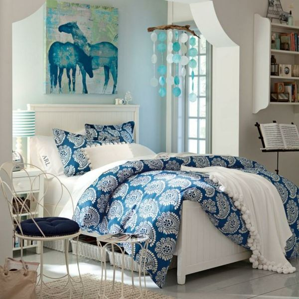 schlafzimmer einrichtungsideen vintage stuhl dekoideen Bedroom - Teen Room Decorating Ideas