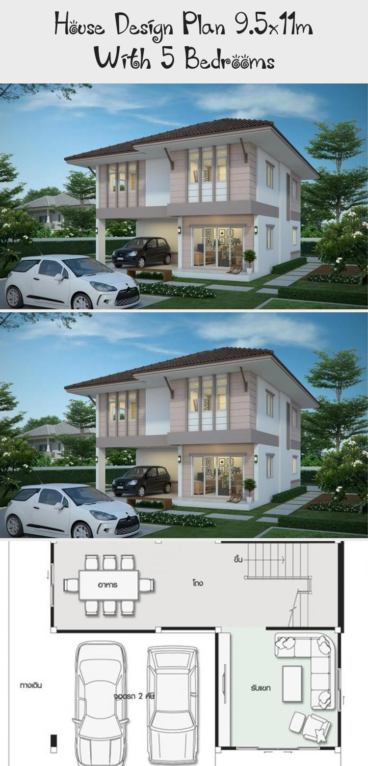 House Design Plan 9 5x11m With 5 Bedrooms Ruby S Blog House Design Plan 9 5x11m With 5 Bedrooms In 2020 Home Design Plans Modern House Plans House Plans Australia
