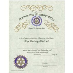 RussellHampton Co Rotary Club Supplies Certificate Of Honorary