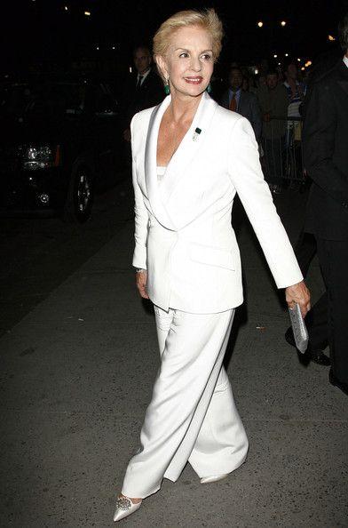 Carolina Herrera Pantsuit #whitepantsuit