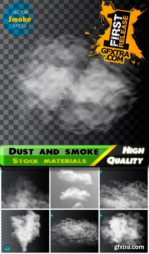 Transparent realistic clouds and dust smoke texture - 25 Eps