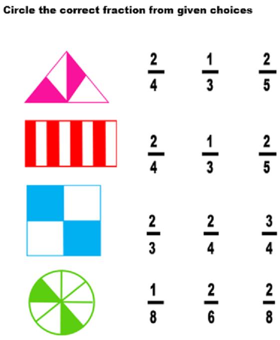 Fraction worksheet for grade 2   Fractions worksheets, 2nd ...