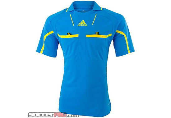 93cd31d1e adidas Referee Jersey Cyan with Yellow