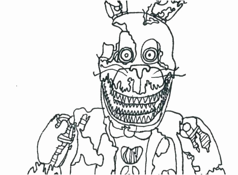 Spring Bonnie Coloring Pages In 2020 Fnaf Coloring Pages